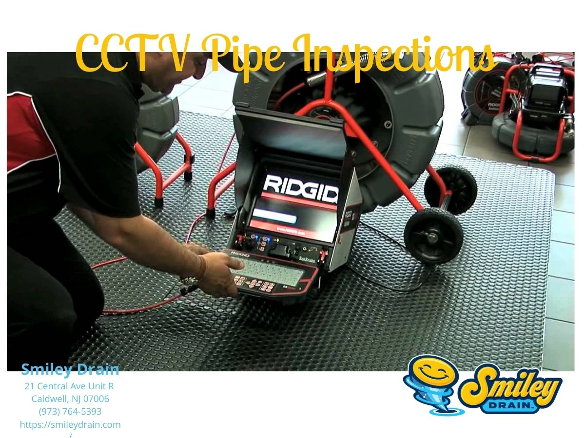 Plumber providing plumbing inspection services with cctv inspection camera