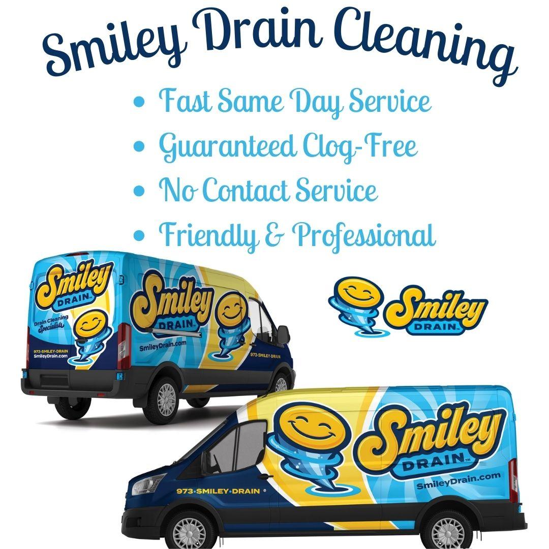 Smiley Drain Cleaning Plumbing Van