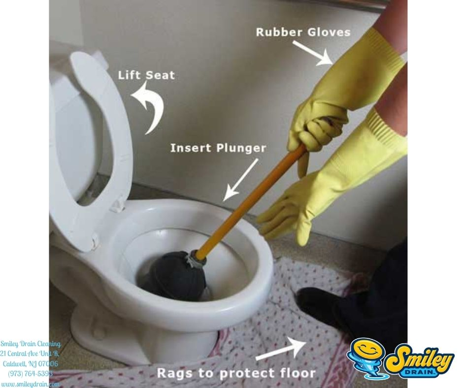 using a toilet plunger for clogged drain