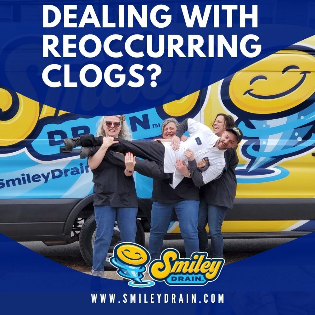 How to deal with reoccurring clogs in your New Jersey Home Smiley Drain Cleaning